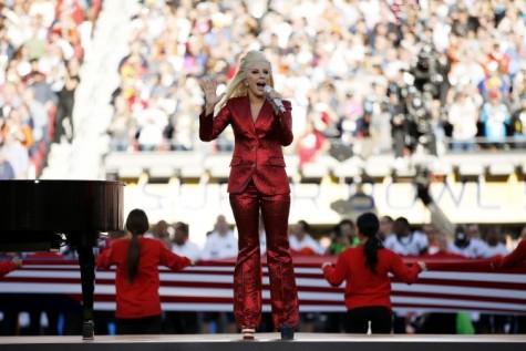 Lady Gaga at the Superbowl-2016